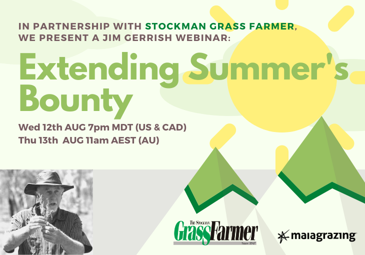 Webinar: Extending Summer's Bounty by Jim Gerrish